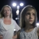 Mother Comforting Crying Daughter Outdoor. Mom And Daughter At Night - VideoHive Item for Sale