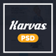 Karvas - One page Multipurpose Portfolio PSD - ThemeForest Item for Sale