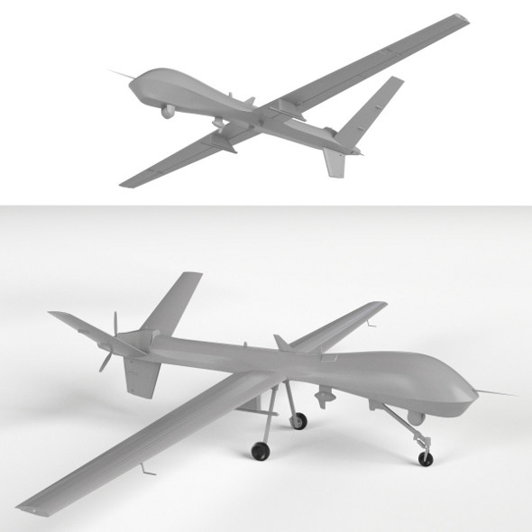 MQ-9 Reaper UAV Drone (two models: gear up/down) - 3DOcean Item for Sale