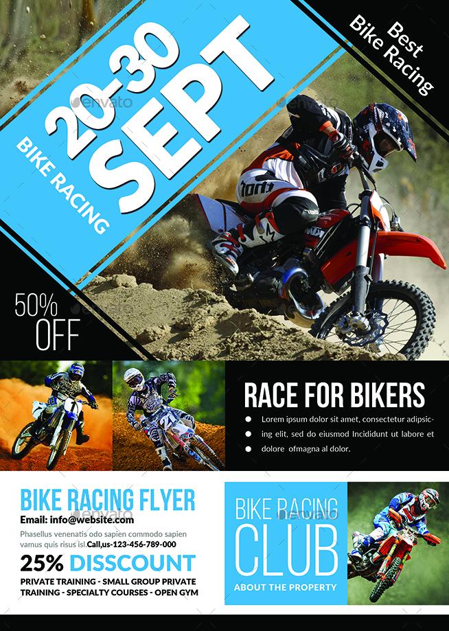 bike racing flyer template by afjamaal