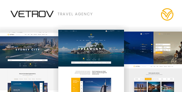 Vetrov – Hotels, Tours & Travel PSD Template