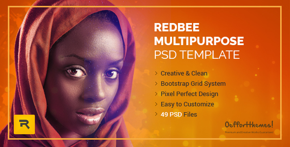 Redbee | Multipurpose PSD Template vol-01