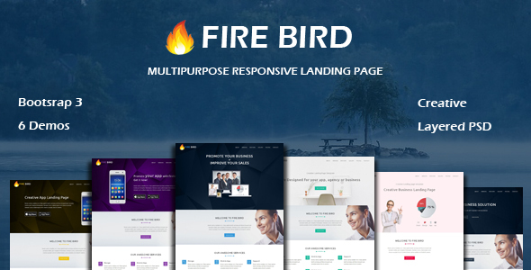 Image of FIRE BIRD - Multipurpose Responsive HTML Landing Page