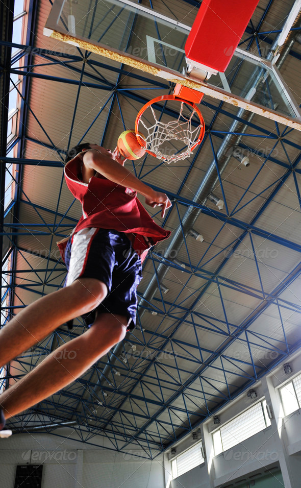 basketball jump - Stock Photo - Images