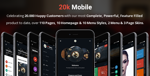 20kMobile | Mobile & Tablet Responsive Template