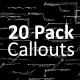 20 Pack Hi-Tech Callouts - VideoHive Item for Sale