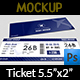 Ticket Mockup - GraphicRiver Item for Sale