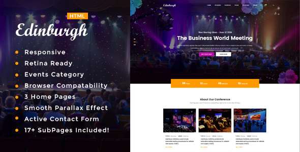 Edinburgh – Conference & Event HTML Template