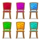 Cartoon Colorful Wooden Chair - GraphicRiver Item for Sale