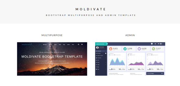 Moldivate - Bootstrap Multipurpose And Admin Template