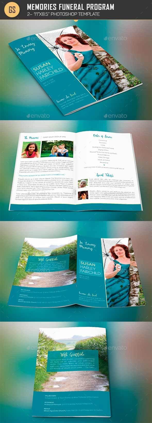 Memories Funeral Program Template - Informational Brochures