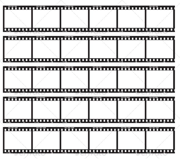 Traditional film strip - Decorative Vectors
