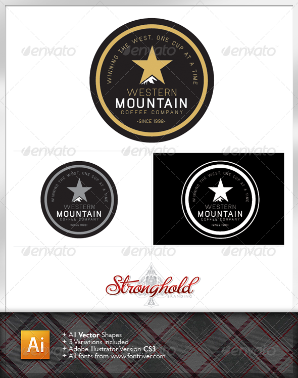 Coffee Company Crest Logo Template - Crests Logo Templates