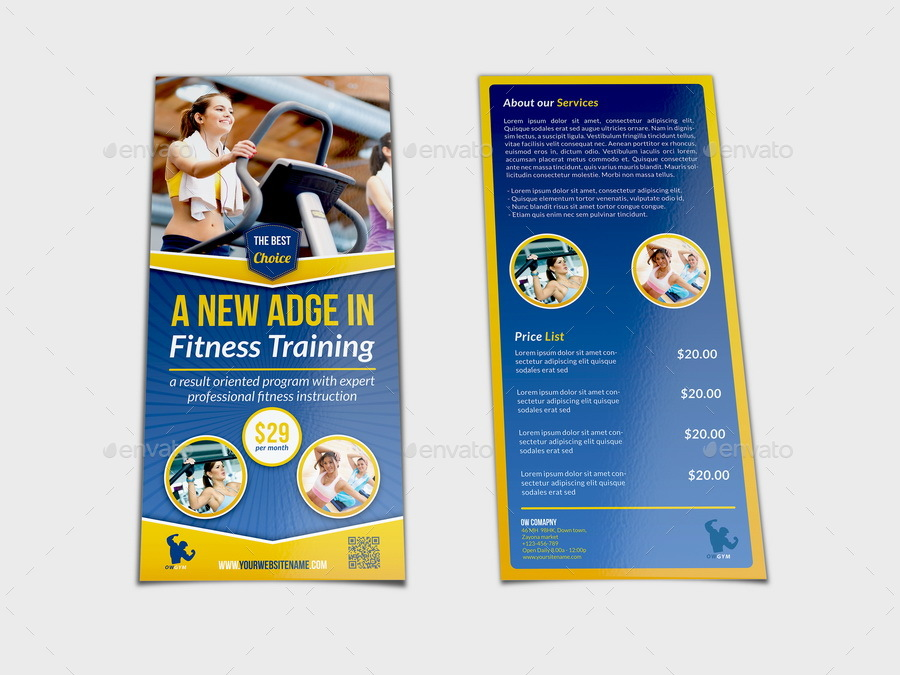 Dl Fitness Flyer Template By Owpictures  Graphicriver