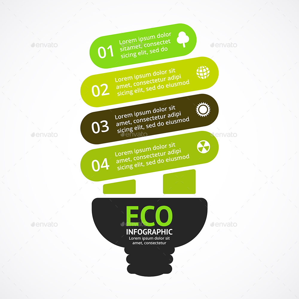 4 Steps Infographics Vol1 By Graphic Seamus Graphicriver Vector Idea Infographic With Light Bulb Template For Creative Diagram