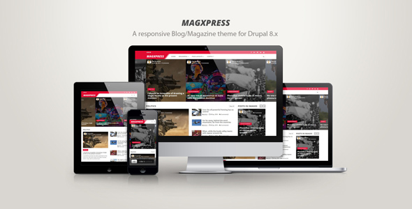 MagXpress – A responsive blog/magazine theme for Drupal 8.x