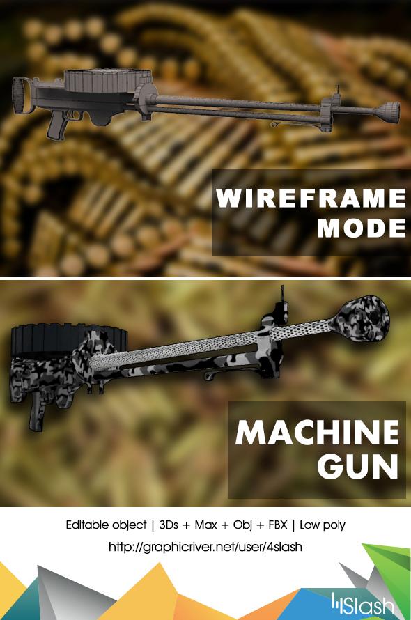 Heavy Machine Gun round magazine - 3DOcean Item for Sale