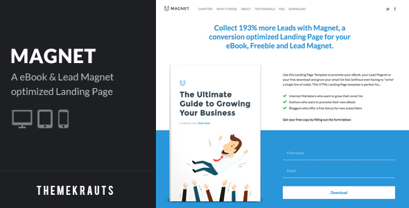 Magnet | eBook & Lead Magnet Landing Page
