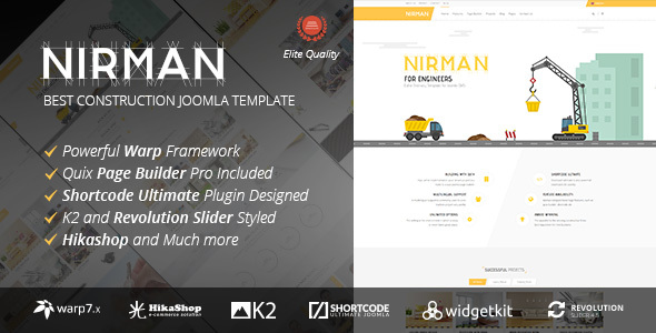 Nirman – Professional Construction Joomla Template