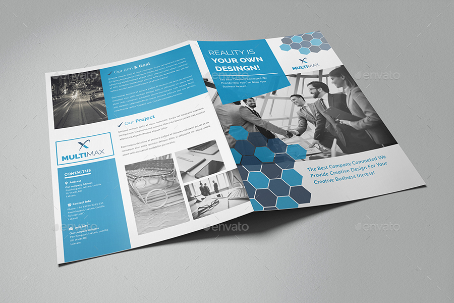 corporate bi fold brochure 4 pages by al mamun graphicriver