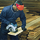 Asian Man with Circular Saw - VideoHive Item for Sale