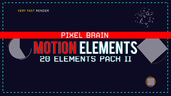 20 Motion Graphic Shape Elements Pack II Video Free Download