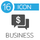 Business and Finance icons vector flat set of 16 - GraphicRiver Item for Sale