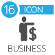 Business strategy flat gray icons - GraphicRiver Item for Sale
