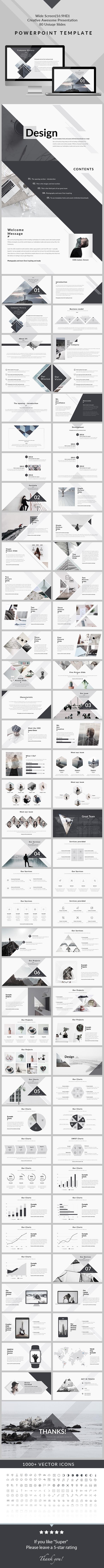 Design - Clean & Creative PowerPoint Presentation