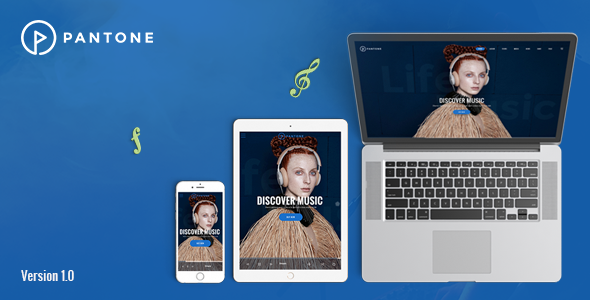 Pantone – Music / Artist / Singers / Bands WordPress Theme
