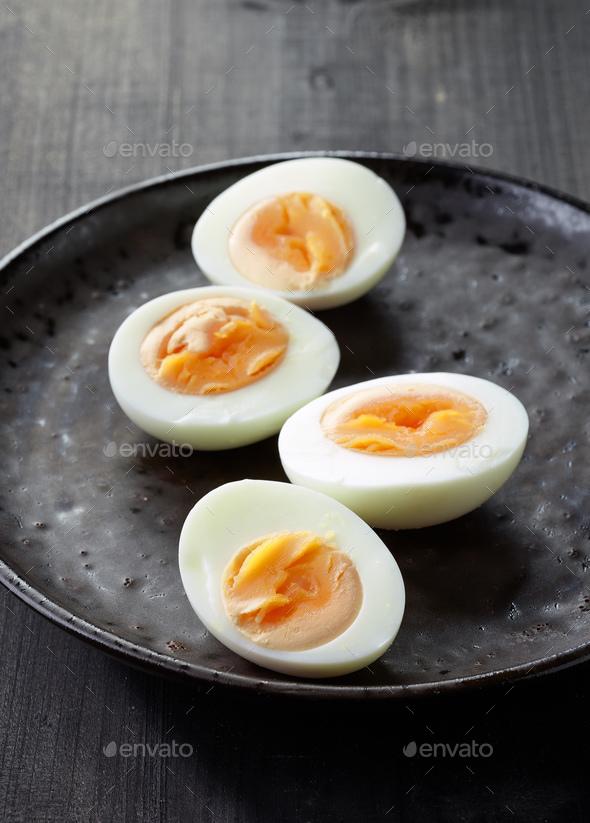freshly boiled eggs - Stock Photo - Images