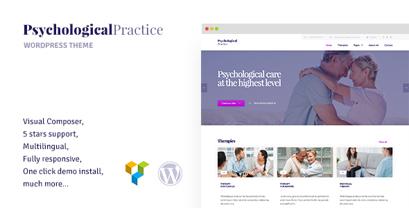 Psychology – WordPress theme for Psychological Practice, Psychologist and Psychiatrist