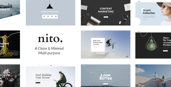 Nito – A Clean & Minimal Multi-purpose WordPress Theme