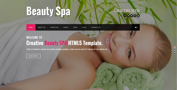 Beauty SPA – HTML Template for Beauty SPA and Salons