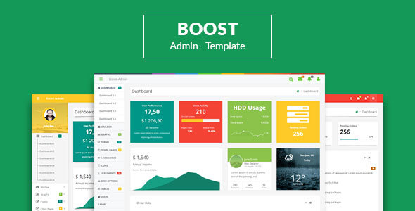 Boost – Responsive + Angular JS Admin Web App Kit