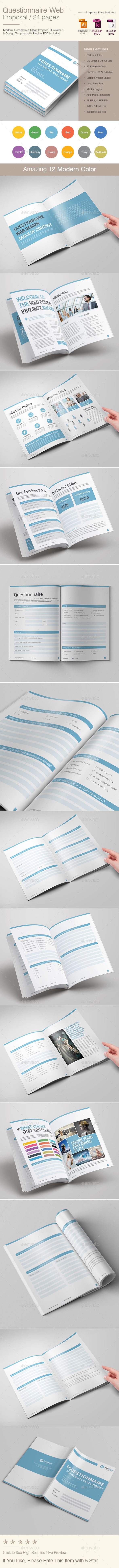 Questionnaire Web Design Proposal - Proposals & Invoices Stationery