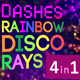 Dashes Rainbow Disco Rays - VideoHive Item for Sale