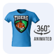 360° Animated T-shirt Mock-Up - GraphicRiver Item for Sale