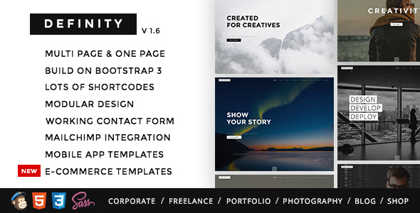 Definity - Multipurpose One/Multi Page Template - Creative Site Templates