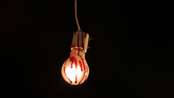 Blood Drops on Light Bulb 02 by Fermu | VideoHive