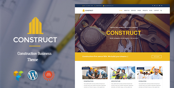 Construct – Construction & Business WordPress Theme