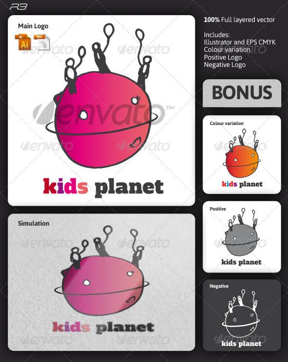 Kids Planet Logo - Humans Logo Templates