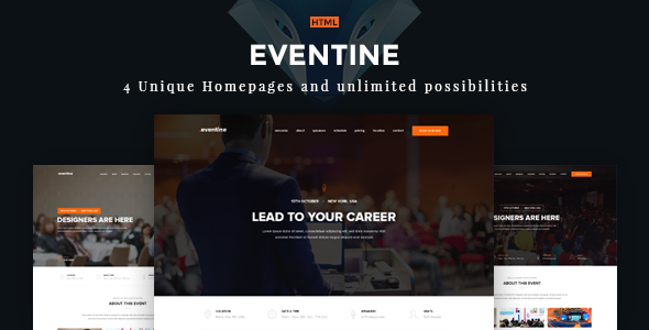 Eventine – Conference & Event OnePage  Theme