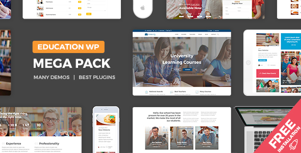 Education Pack – Education Learning Theme WP
