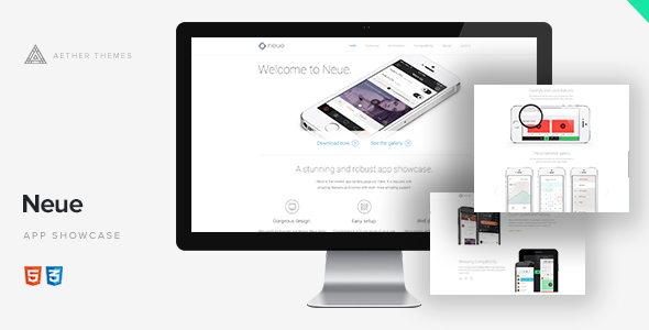 Neue - App Landing Page - Landing Pages Marketing