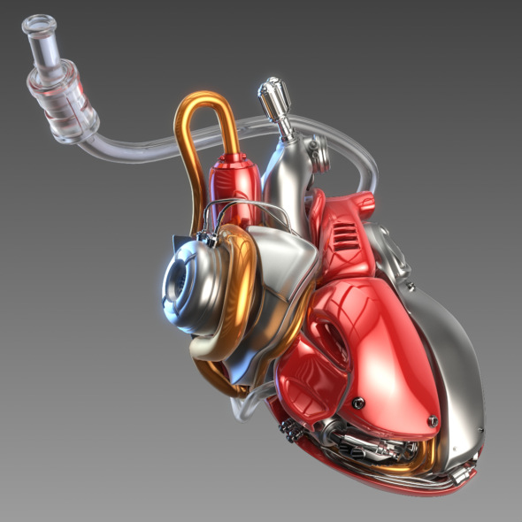 Artificial cyber heart - 3DOcean Item for Sale