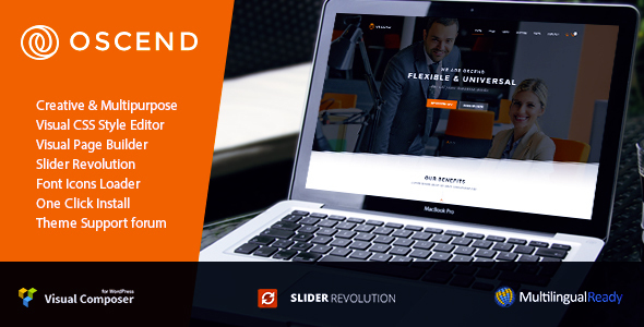 Oscend - Creative Agency WordPress  Theme