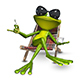 3d Illustration Frog with a Cup of Coffee - GraphicRiver Item for Sale