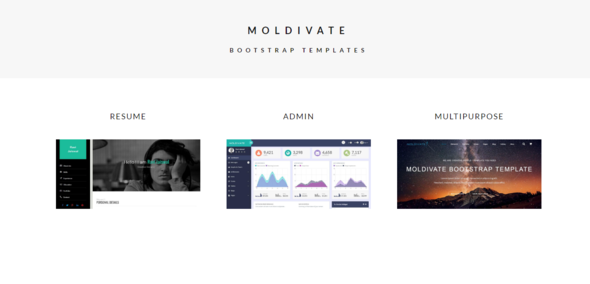 Moldivate - Bootstrap Multipurpose , Resume And Admin Template
