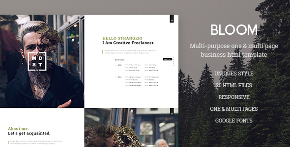 Bloom – One & Multi Page Business HTML Template
